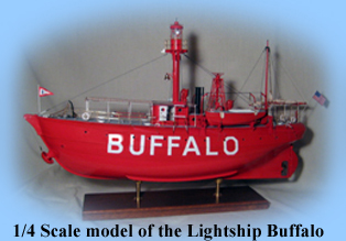 1/4 scale model of the Lightship Buffalo
