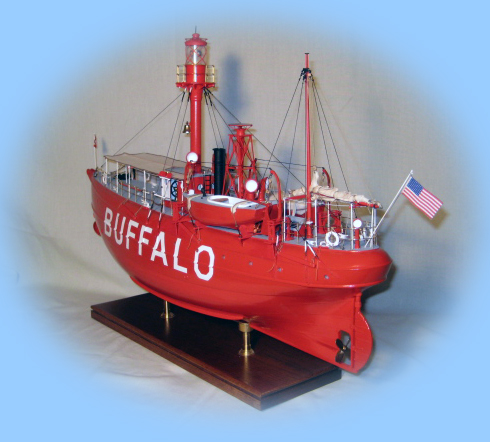 1/4 scale stern of the Lightship Buffalo