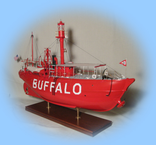 1/4 Scale Starboard Bow of the Lightship Buffalo model