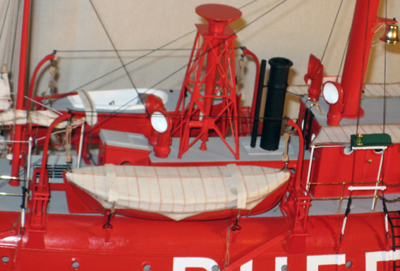 Mid Starboard detail of Lightship No. 98 the Buffalo