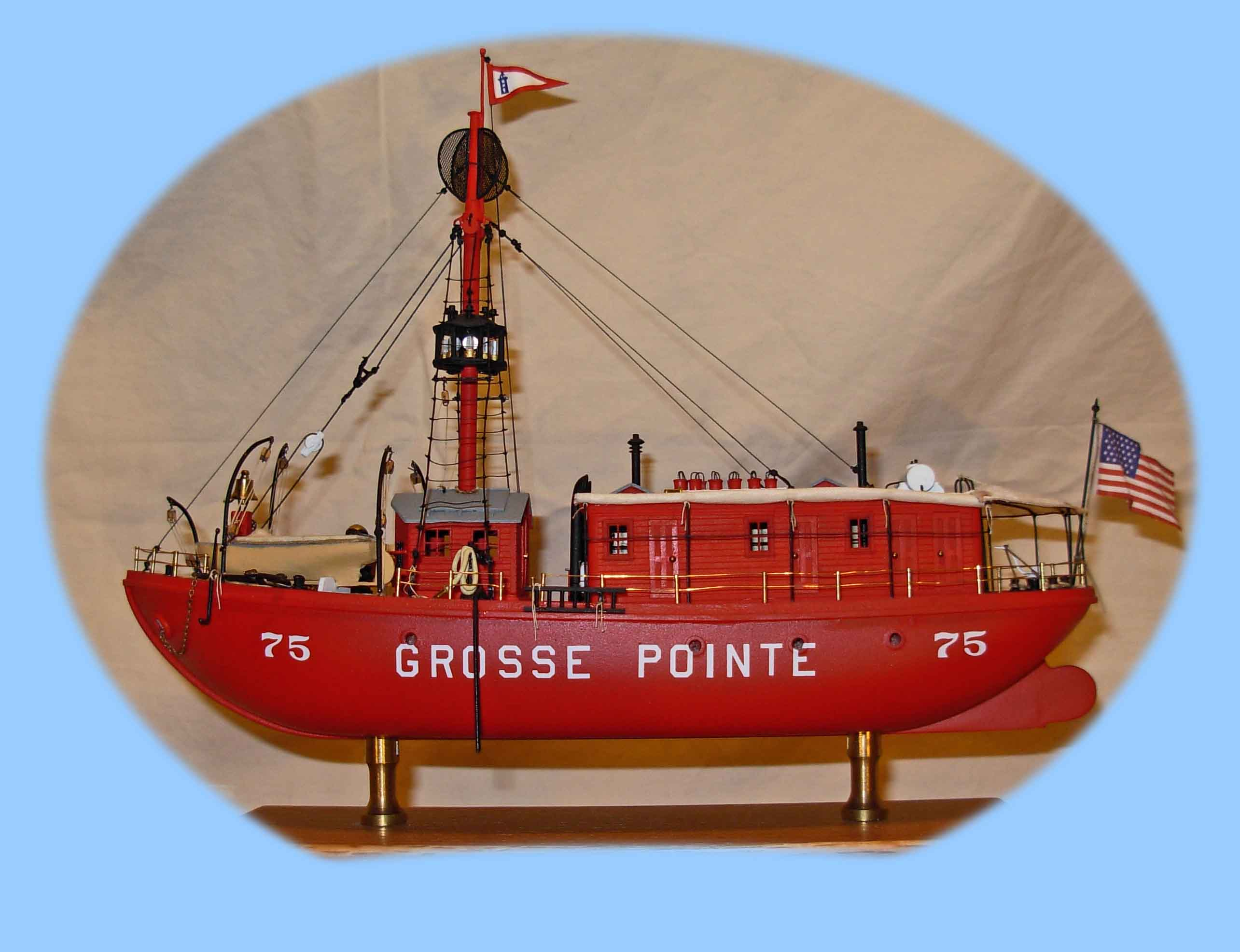 Light ship vessel number 75 as the Grosse Point