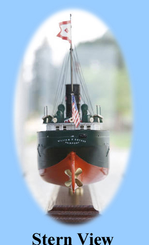 1/16 scale stern of the William P. Snyder