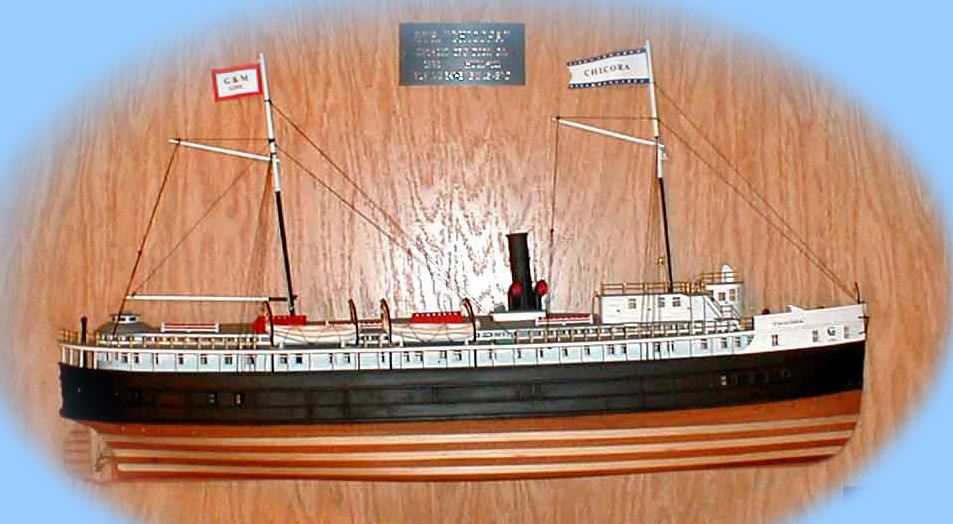 Model of the wood passenger propeller Chicora